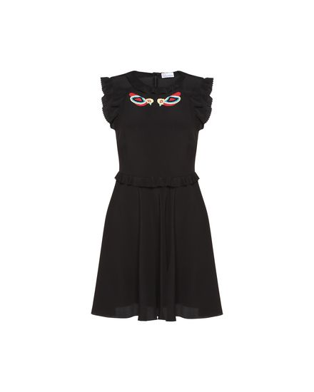 REDValentino Embroidered dress Woman PR0VA6W33M8 0NO a