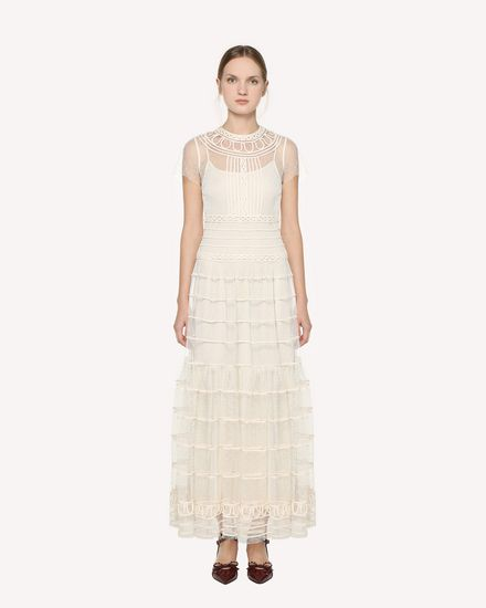 REDValentino Embroidered dress Woman PR0VA09A3QD A03 f