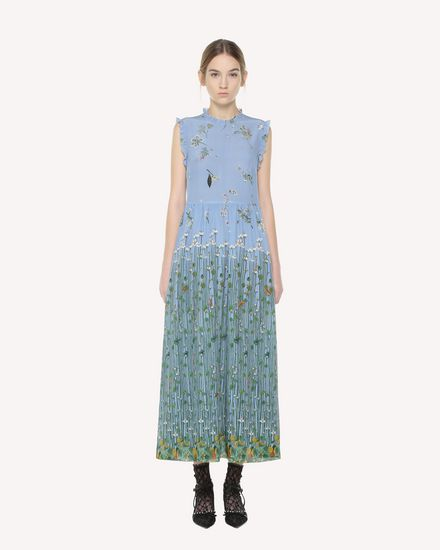 Garden of Metamorphosis print silk dress