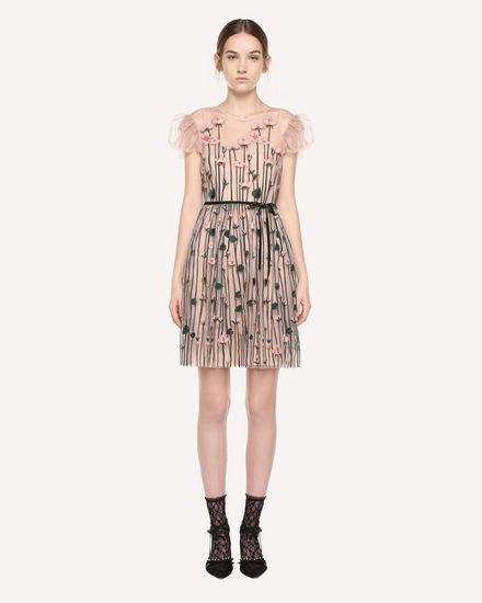 Garden of Metamorphosis embroidered Tulle dress