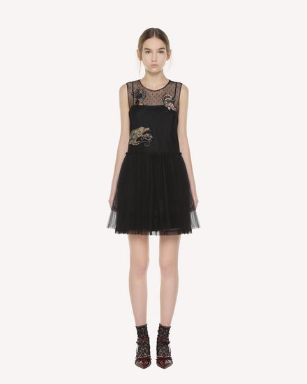 Tulle dress with Enchanted Reptiles and Bird patches