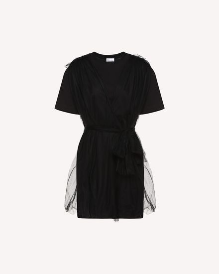 T-dress Noir project jersey and tulle dress