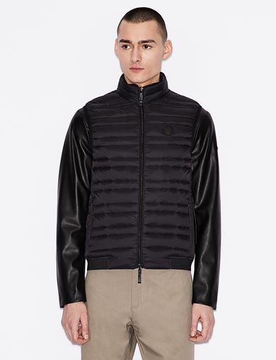 아르마니 익스체인지 Armani Exchange CLASSIC PACKABLE DOWN-FILL PUFFER VEST,Black