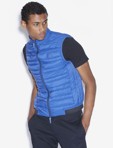 아르마니 익스체인지 Armani Exchange CLASSIC PACKABLE DOWN-FILL PUFFER VEST,Blue