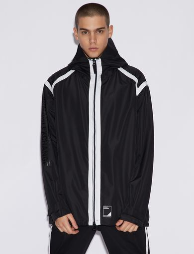 아르마니 익스체인지 Armani Exchange JACKET WITH CONTRASTING TRIM,Black