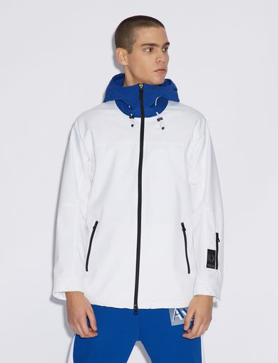 아르마니 익스체인지 Armani Exchange HOODED JACKET,White