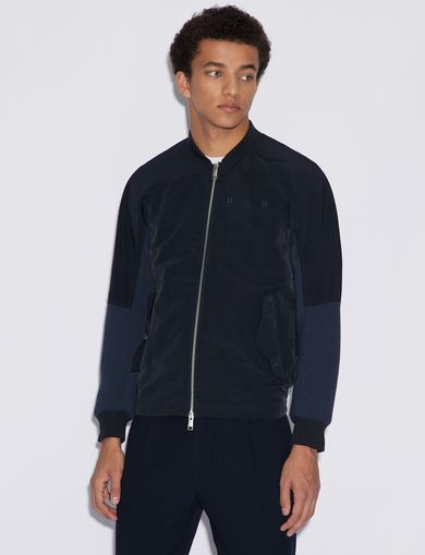 아르마니 익스체인지 Armani Exchange OPAQUE TECHNICAL BOMBER,Navy Blue