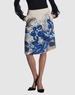 Rutzou Women - Skirts - 3/4 length skirt Rutzou on YOOX :  blue printed blue and white floral print