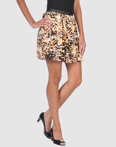 REBECCA MINKOFF Leopard Print Mini skirt 