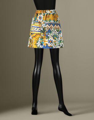 FALDA CORTA CON ESTAMPADO DE MAYÓLICAS - Minifaldas - Dolce&Gabbana - Invierno 2016