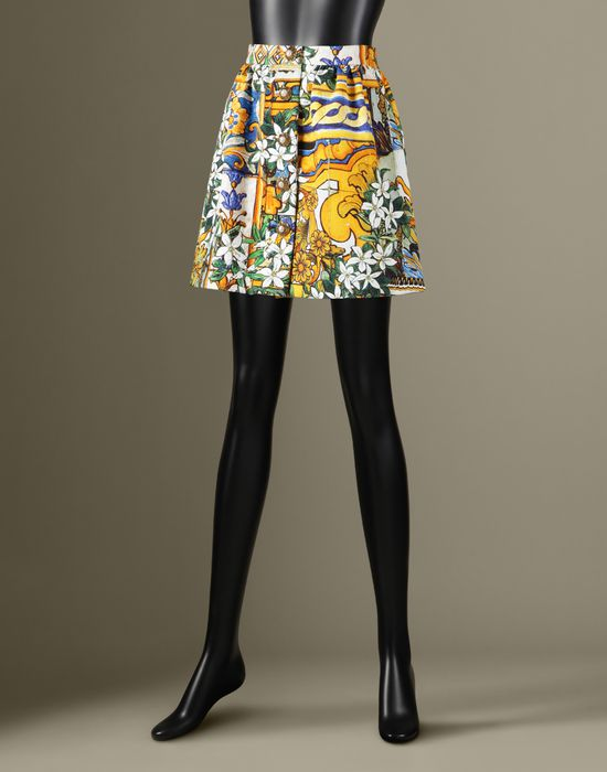 MAJOLICA PRINT MINI SKIRT - Mini skirts - Dolce&Gabbana - Winter 2016