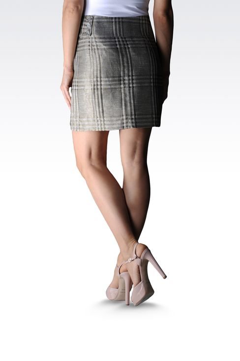 runway skirt in Prince of Wales: Mini skirts Women by Armani - 2