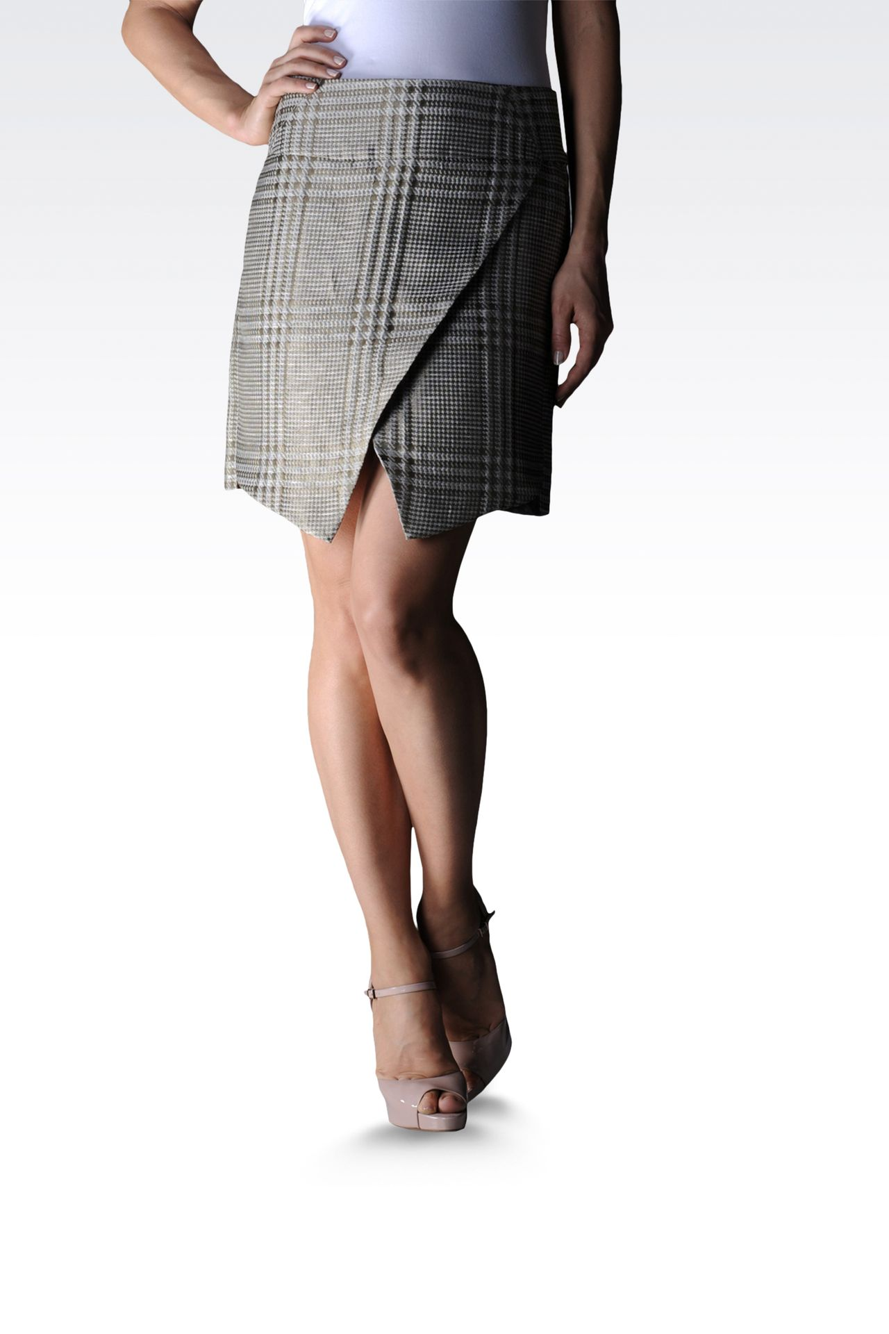 runway skirt in Prince of Wales: Mini skirts Women by Armani - 0