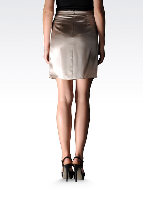 silk skirt with draping at the waist: Mini skirts Women by Armani - 2