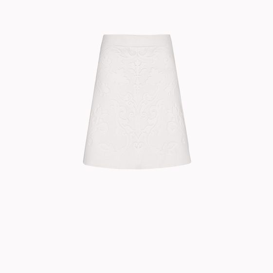 Stella McCartney, Double Face Wool Stretch Giulietta Embossed Skirt