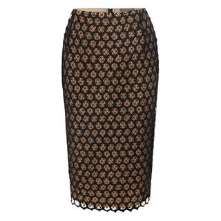 ALEXANDER MCQUEEN, Skirt, Honeycomb Lace Macramé Pencil Skirt