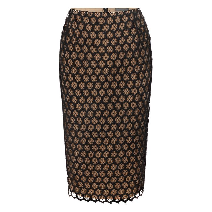 Alexander McQueen, Honeycomb Lace Macramé Pencil Skirt
