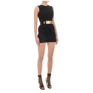 ALEXANDER MCQUEEN, Shorts, Crepe High-Waisted Shorts
