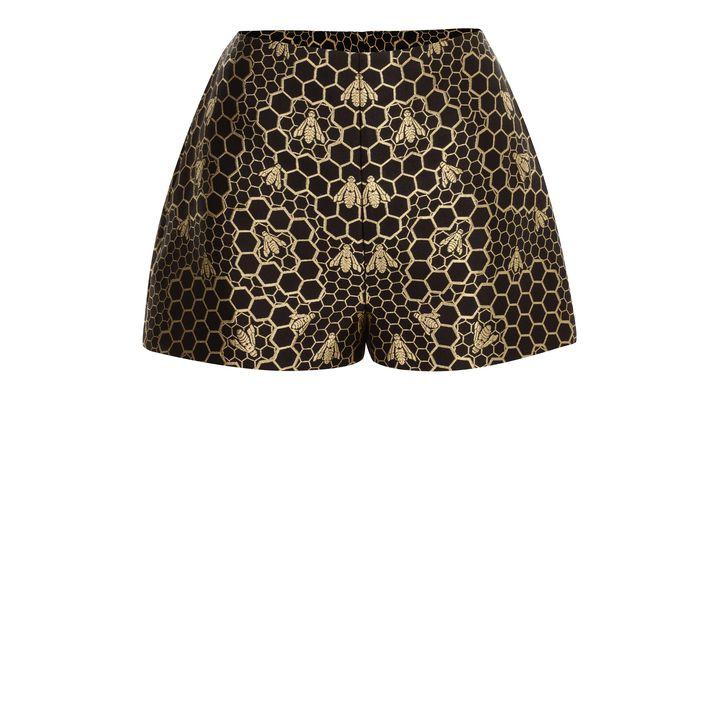 Alexander McQueen, Bee Jacquard High-Waisted Shorts