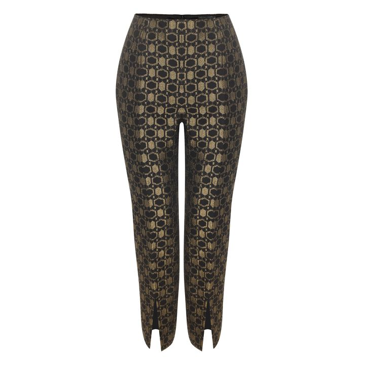 Alexander McQueen, Honeycomb Lace Slit Cropped Trousers