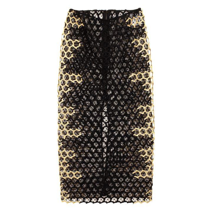 Alexander McQueen, Honeycomb Macramé Skirt