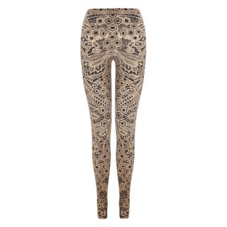 ALEXANDER MCQUEEN, Leggings, Honeycomb Lace Print Leggings