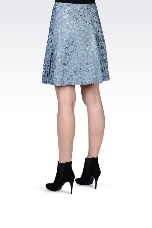 SKIRT IN LUREX JACQUARD: Knee length skirts Women by Armani - 3