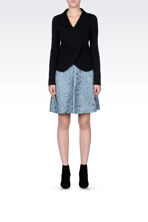 SKIRT IN LUREX JACQUARD: Knee length skirts Women by Armani - 1