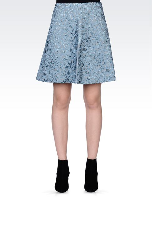 SKIRT IN LUREX JACQUARD: Knee length skirts Women by Armani - 2