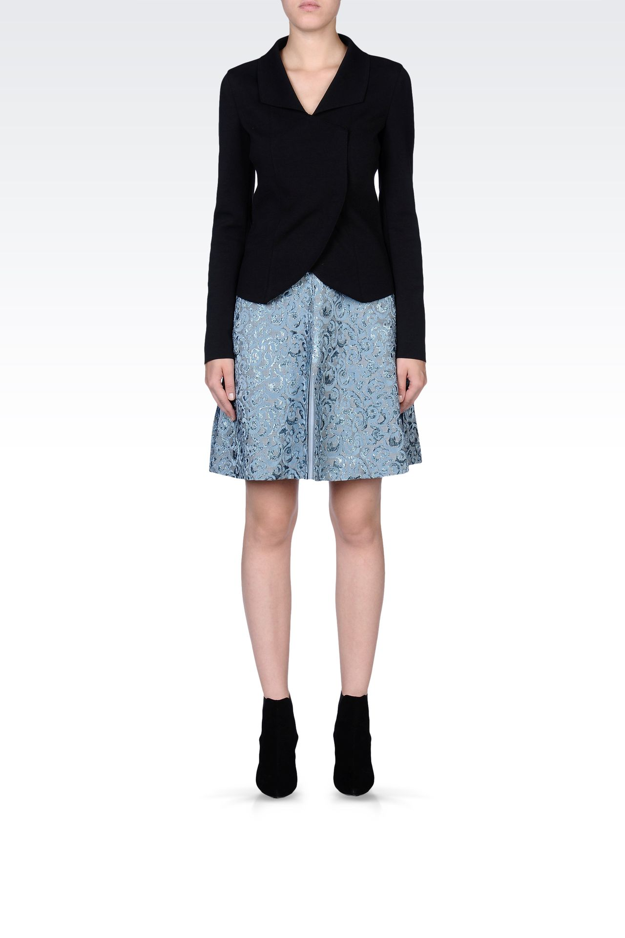 SKIRT IN LUREX JACQUARD: Knee length skirts Women by Armani - 0