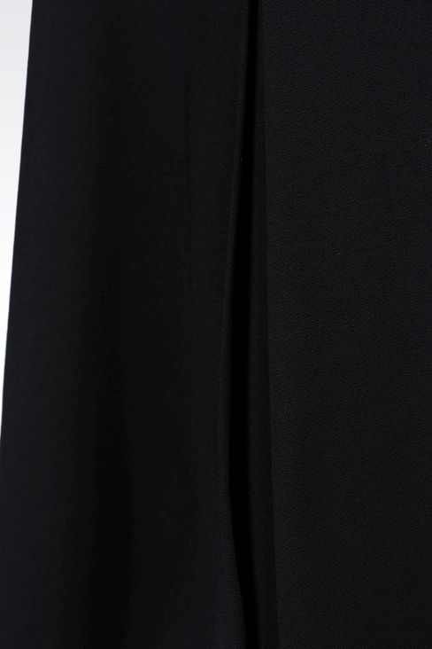 TRAPEZE SKIRT IN STRETCH WOOL: Knee length skirts Women by Armani - 4