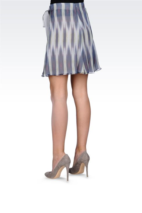 STRIPED SKIRT WITH BOW: Printed dresses Women by Armani - 3