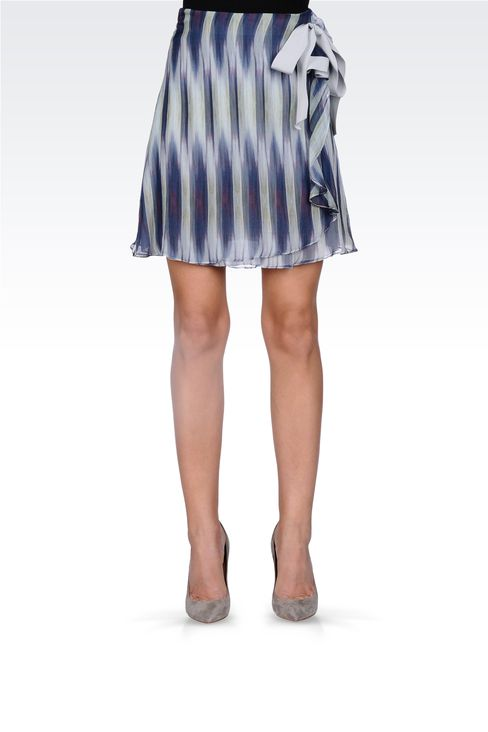 STRIPED SKIRT WITH BOW: Printed dresses Women by Armani - 2