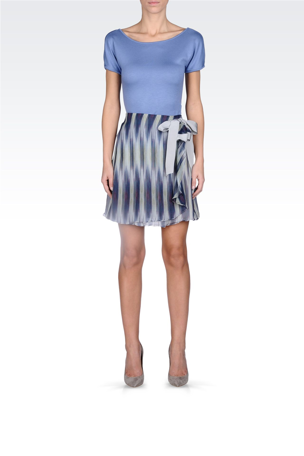 STRIPED SKIRT WITH BOW: Printed dresses Women by Armani - 0