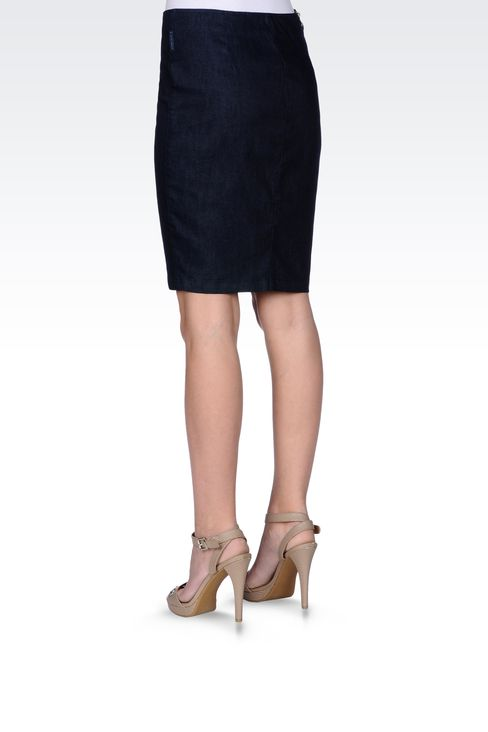 DENIM PENCIL SKIRT: Denim skirts Women by Armani - 3