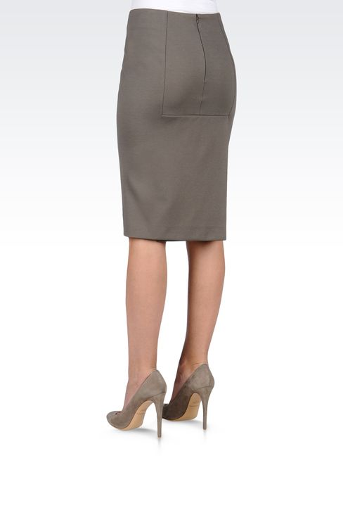 VISCOSE PENCIL SKIRT: Knee length skirts Women by Armani - 3