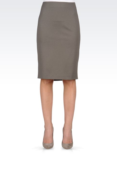 VISCOSE PENCIL SKIRT: Knee length skirts Women by Armani - 2