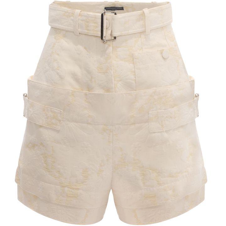 Alexander McQueen, Flock Jacquard Utility Shorts