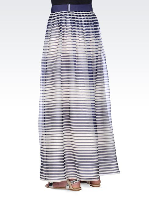 STRIPED SILK LONG SKIRT: Long skirts Women by Armani - 3