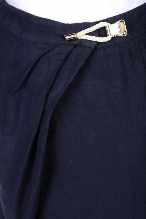 WRAPAROUND SKIRT IN LINEN: Mini skirts Women by Armani - 4