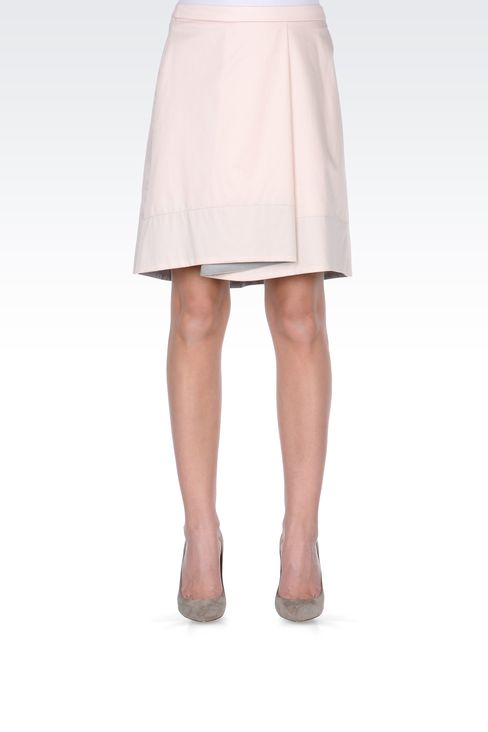 ASYMMETRIC COTTON SKIRT: Mini skirts Women by Armani - 2