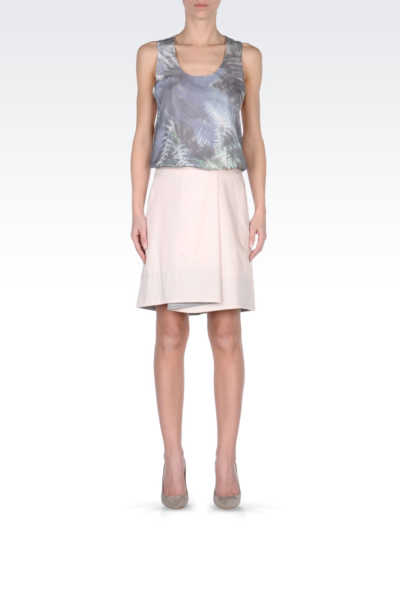 ASYMMETRIC COTTON SKIRT: Mini skirts Women by Armani - 0