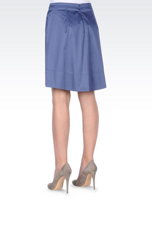 ASYMMETRIC COTTON SKIRT: Mini skirts Women by Armani - 3