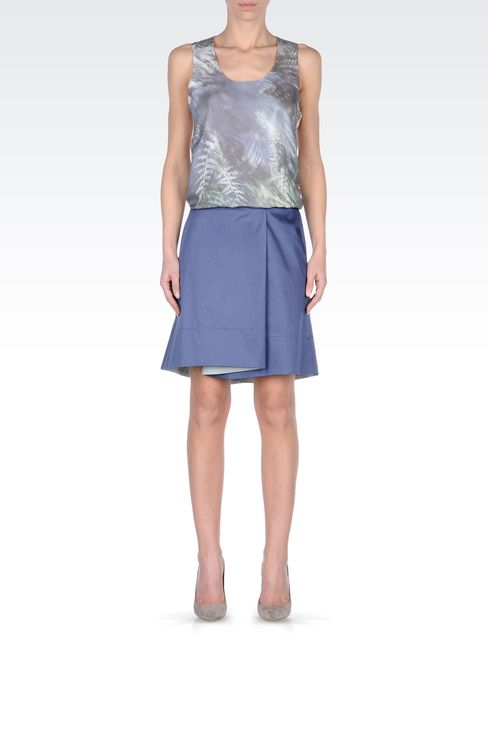 ASYMMETRIC COTTON SKIRT: Mini skirts Women by Armani - 1