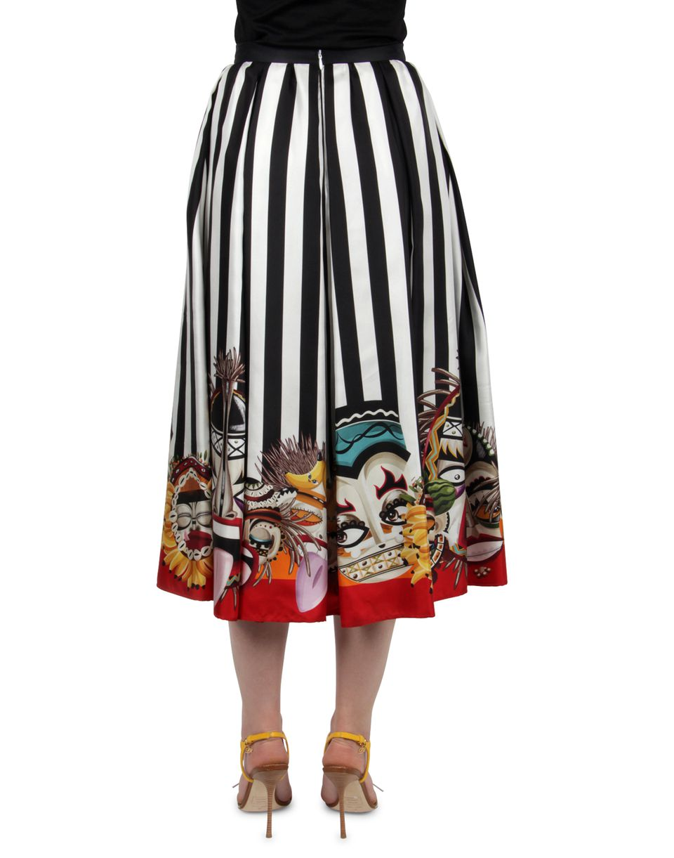 tribal couture printed 50's skirt skirts Woman Dsquared2