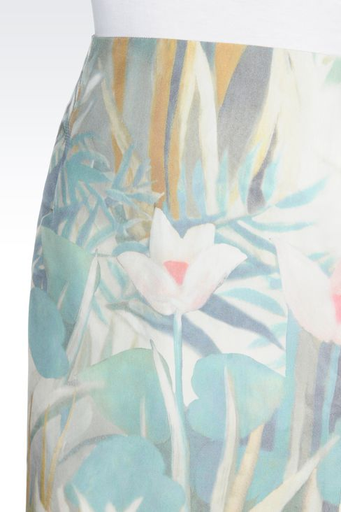 PENCIL SKIRT IN PRINTED SILK: Knee length skirts Women by Armani - 4