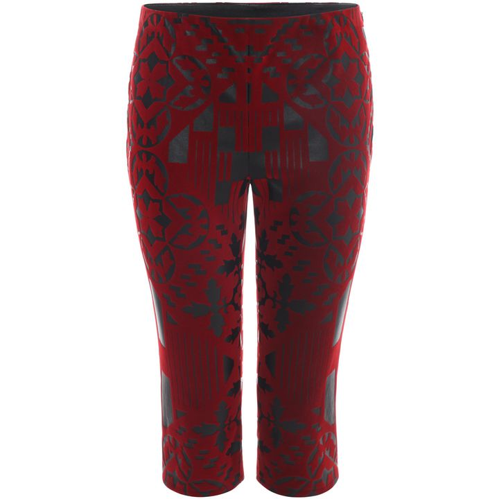 Alexander McQueen, Patchwork Cropped Leather Trousers