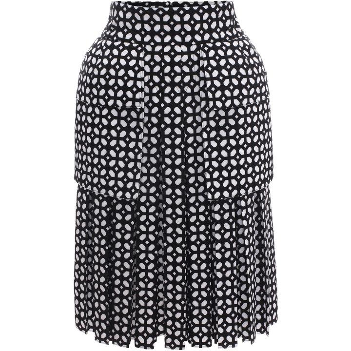 Alexander McQueen, Bi-Colour Bonded Grid Pleated Skirt