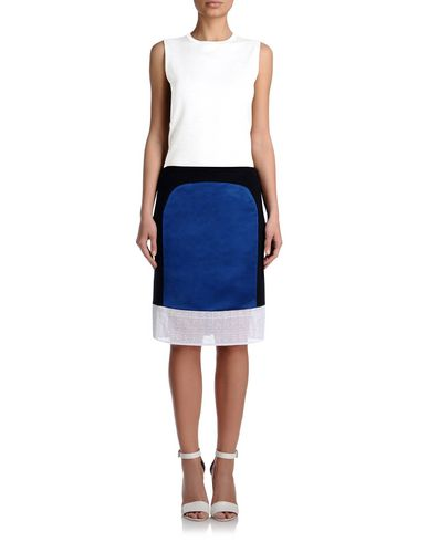 Couture silk skirt with macramé trim
