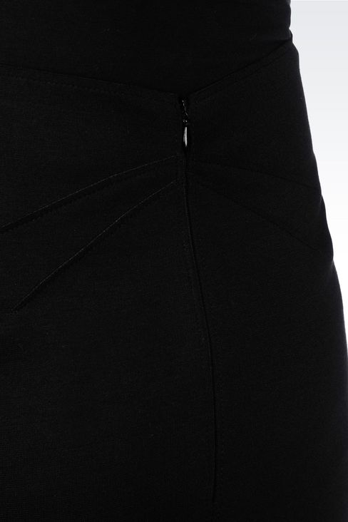 PENCIL SKIRT IN NEOPRENE: Knee length skirts Women by Armani - 5